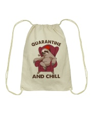 Quarantine And Chill Drawstring Bag thumbnail