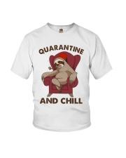 Quarantine And Chill Youth T-Shirt thumbnail