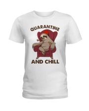 Quarantine And Chill Ladies T-Shirt thumbnail