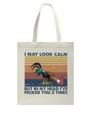 I May Look Calm Tote Bag thumbnail
