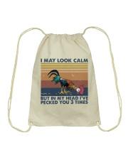 I May Look Calm Drawstring Bag thumbnail