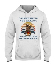 You Dont Have To Be Crazy Hooded Sweatshirt front