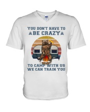You Dont Have To Be Crazy V-Neck T-Shirt thumbnail