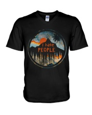 I Hate People V-Neck T-Shirt thumbnail