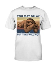 You May Delay Funny Sloth Classic T-Shirt tile