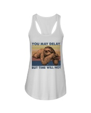 You May Delay Funny Sloth Ladies Flowy Tank tile