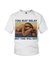 You May Delay Funny Sloth Youth T-Shirt tile