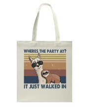 Where The Party At Tote Bag thumbnail
