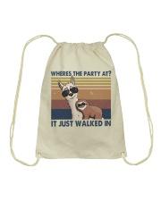 Where The Party At Drawstring Bag thumbnail