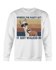 Where The Party At Crewneck Sweatshirt thumbnail