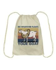 Do Whatever Floats Drawstring Bag thumbnail