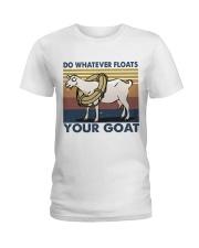 Do Whatever Floats Ladies T-Shirt thumbnail
