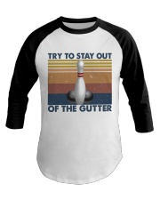Try To Stay Out Baseball Tee tile