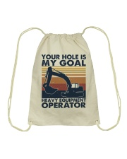 Your hole Is My Goal Drawstring Bag thumbnail