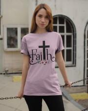 Faith Pink FLower Classic T-Shirt apparel-classic-tshirt-lifestyle-19