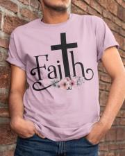 Faith Pink FLower Classic T-Shirt apparel-classic-tshirt-lifestyle-26