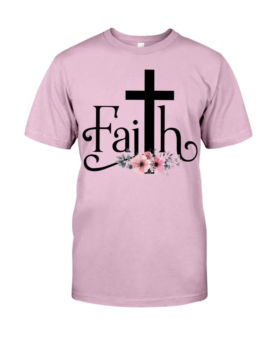 Faith Pink FLower Classic T-Shirt