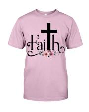Faith Pink FLower Classic T-Shirt front