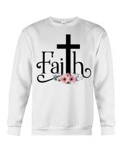 Faith Pink FLower Crewneck Sweatshirt thumbnail