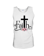 Faith Pink FLower Unisex Tank thumbnail