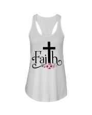 Faith Pink FLower Ladies Flowy Tank thumbnail
