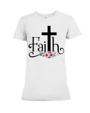 Faith Pink FLower Premium Fit Ladies Tee thumbnail