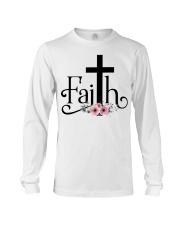 Faith Pink FLower Long Sleeve Tee thumbnail