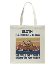 Sloth Paddling Team Tote Bag thumbnail