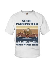 Sloth Paddling Team Youth T-Shirt thumbnail