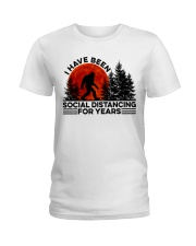 I Have Been Social Ladies T-Shirt thumbnail