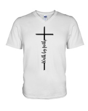 Walk By Faith V-Neck T-Shirt thumbnail