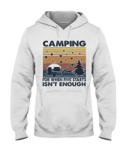 Camping For When Hooded Sweatshirt front