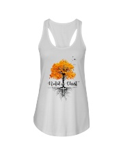 Rooted In Christ Ladies Flowy Tank thumbnail