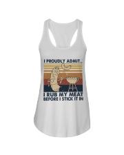 I Proudly Admit I Rub My Meat Ladies Flowy Tank thumbnail