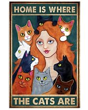 Home Is Where The Cats Are 11x17 Poster front