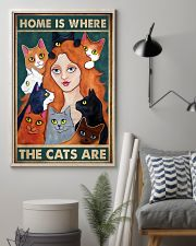 Home Is Where The Cats Are 11x17 Poster lifestyle-poster-1