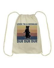 Look Im A Hooman Drawstring Bag thumbnail