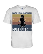 Look Im A Hooman V-Neck T-Shirt thumbnail