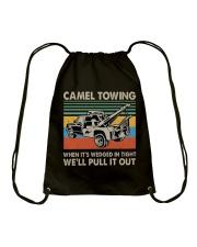 Camel Towing Funny Drawstring Bag thumbnail