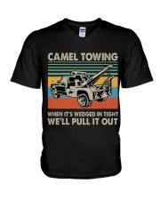 Camel Towing Funny V-Neck T-Shirt thumbnail