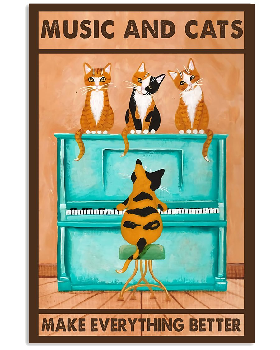 Music And Cats 11x17 Poster