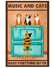 Music And Cats 11x17 Poster front
