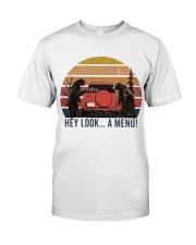 Hey Look A Menu Funny Classic T-Shirt thumbnail