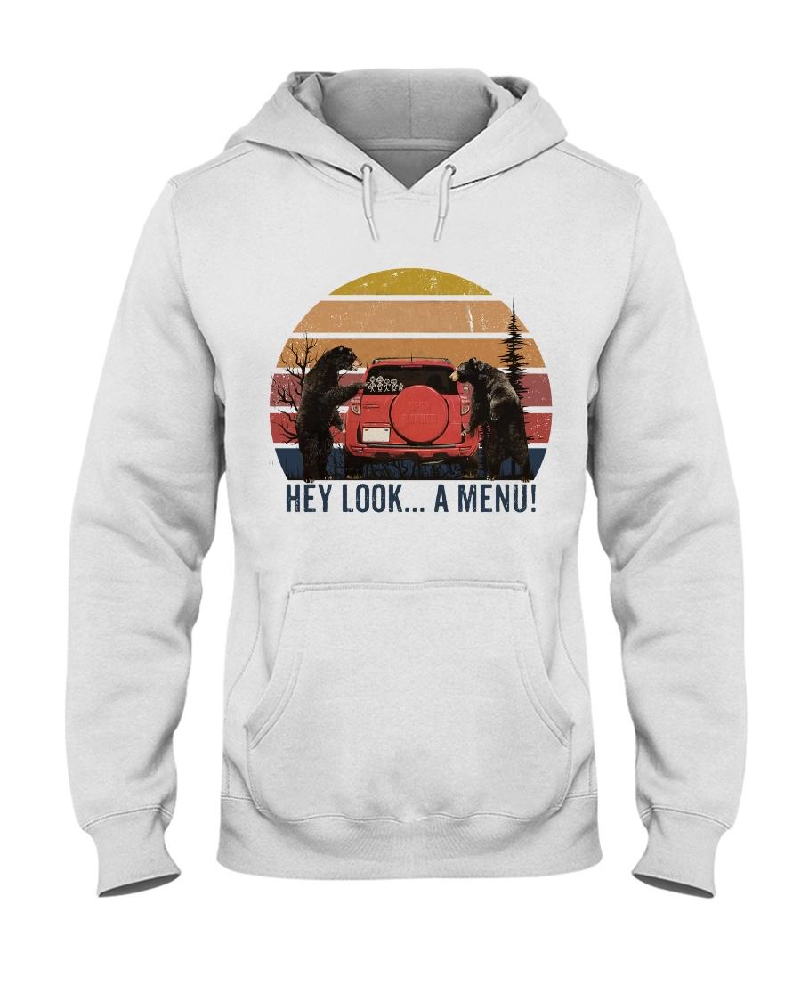 Hey Look A Menu Funny Hooded Sweatshirt