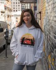 Hey Look A Menu Funny Hooded Sweatshirt lifestyle-unisex-hoodie-front-1