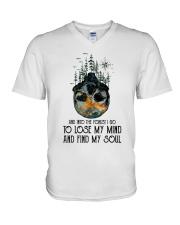 Go Outside Worst Case V-Neck T-Shirt thumbnail