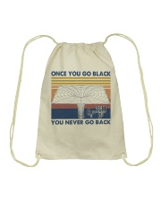 Once You Go Black Drawstring Bag thumbnail