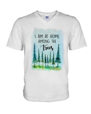 I Am At Home Among The Trees V-Neck T-Shirt tile
