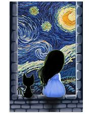 Girl And Cat Starry Night 11x17 Poster front