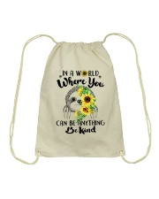 Where You Can Be Anything Drawstring Bag tile